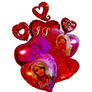I Love You Balloons # 2 - Mylar Balloons
