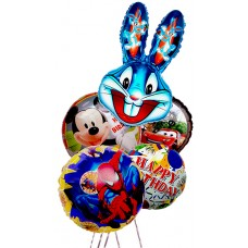 """Happy Holiday!"" - Mylar balloons - Boys"
