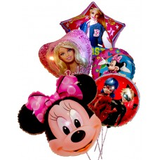 """Happy Holiday!"" - Mylar balloons - Girls"
