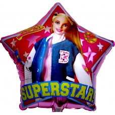 Barbie Super star - Foil Balloons