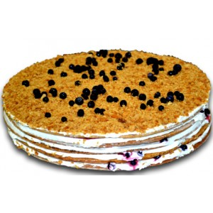 French blueberry cake
