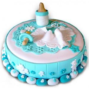 Торта за новородено момче - 16 парчета