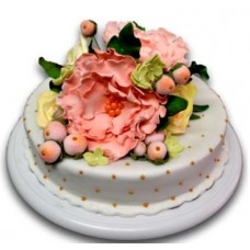 Cake with peonies - 16 pieces