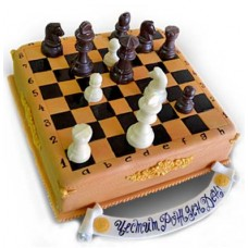 Cake in the shape of chess - 16 pieces