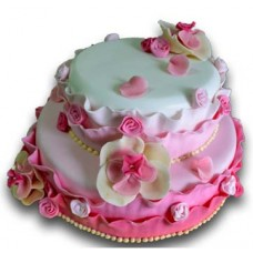 Wedding cake -  Pink blossoms - 20 pieces