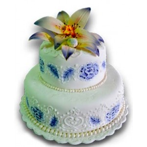 Wedding cake -  Blue flowers - 20 pieces