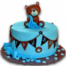 Teddy Bear - Children's cake - 16 pieces