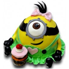 Minion Girl - Children's cake - 16 pieces