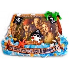 Pirates of the Caribbean - Children's cake - 16 pieces