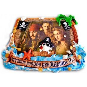 Карибски пирати - Детска торта - 16 парчета