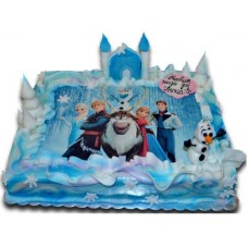 Замръзналото кралство - Детска торта - 16 парчета