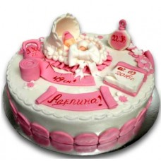 Cake for newborn girl - 16 pieces