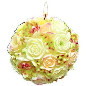 Свещ - рози топка