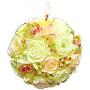 Roses candle ball in basket