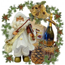 Musical Santa Violin gift basket