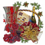 OLYMPIA Candlestick in Christmas Basket
