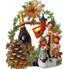 Violinist LED lamp - Christmas Basket
