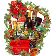 A gourmet feast Christmas basket