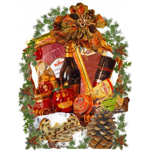 Festive feast Christmas basket