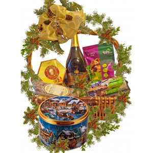 Christmas celebration basket
