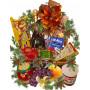 Коледна кошница с лакомства  и плодове