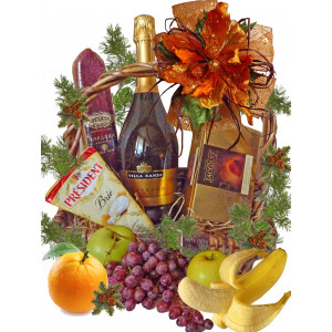 Christmas delight gift basket