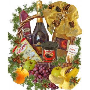 Warm greeting Christmas basket