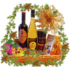 Words of thanks - Christmas basket