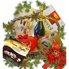 Sweet hamper Christmas basket