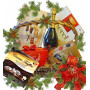 Сладка Коледна кошница с лакомства