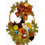 Cheese and fruit Christmas basket