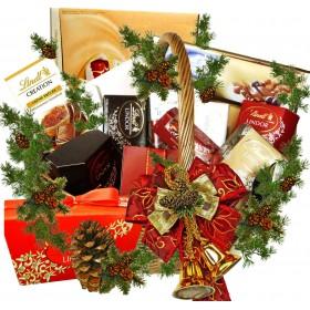 LINDT - Коледна кошница с лакомства