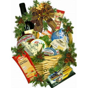 Special cheese basket for Christmas