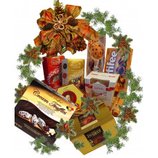 Chocolate lovers basket for Christmas