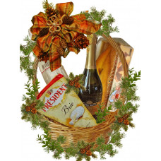 Delight food Christmas basket