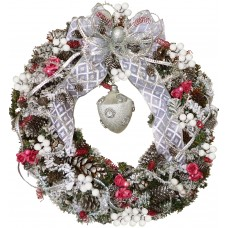 Silent night - Christmas wreath - Unique!