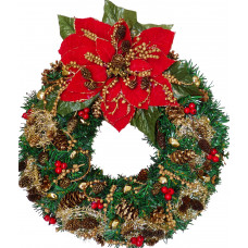 Poinsettia Christmas wreath - Unique!