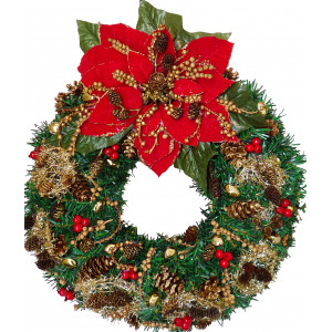 Poinsettia Christmas wreath - Unique!