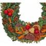 Natural Christmas wreath - Unique!