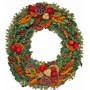 Natural Christmas wreath - Unique!