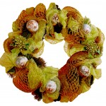 Green Christmas Wreath - Unique craftsmanship!