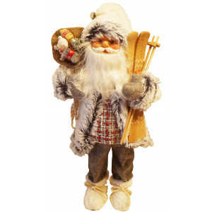 Santa Claus Gray Fur Coat
