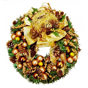 Gold Christmas wreath Unique!