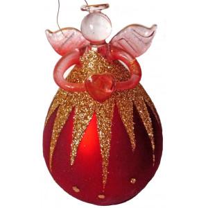 Glass Christmas Angel # 1