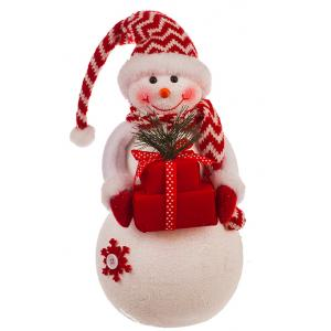 Snowman Holding Christmas Gifts