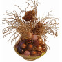 Christmas decoration in brown