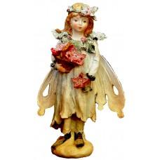 Ангел с цветя - Фигура полирезин