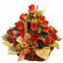 Silk Roses Basket - Thea