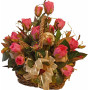Silk Roses Basket - Stacy