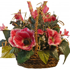 Silk Flowers Basket - Dorris
